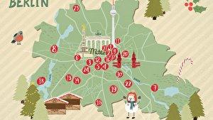 Weihnachtsmarkt-Karte