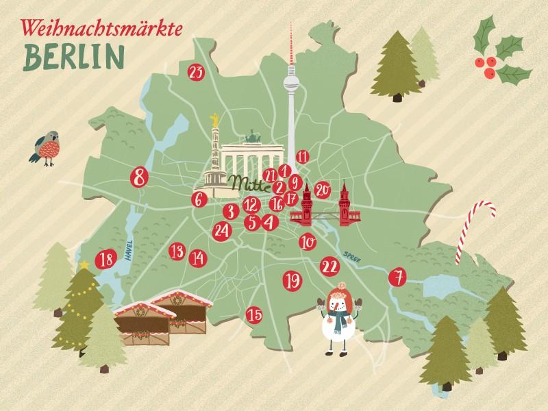 karte ausgew hlter weihnachtsm rkte in berlin. Black Bedroom Furniture Sets. Home Design Ideas